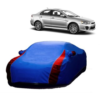 DrivingAID Car Cover For Renault Lodgy (Designer Blue  Red )