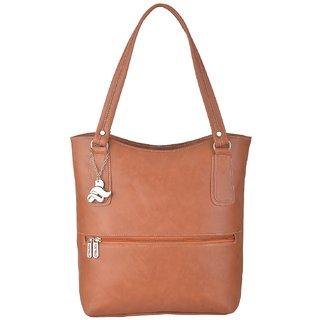 Fostelo Women s Sarah Shoulder Bag Tan (FSB-871) 7f710285ca3ec