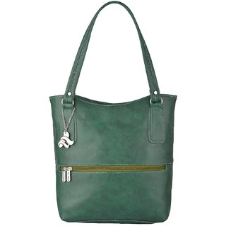 b7e8145a688 Fostelo Women's Sarah Shoulder Bag Green (FSB-875)