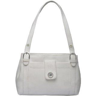 Fostelo Women's Emily Shoulder Bag White (FSB-886)