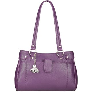 Fostelo Women's Iconic Shoulder Bag Purple (FSB-892)
