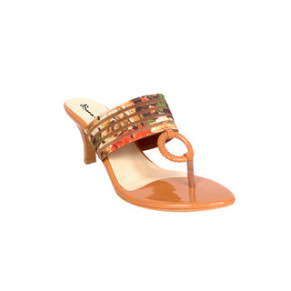Studio 9 Womens Tan Heels
