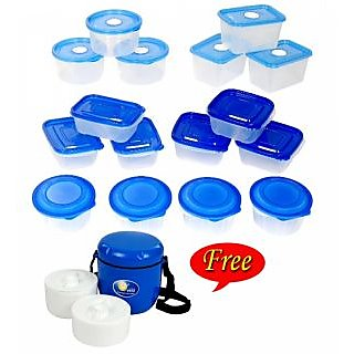 16 Pcs Food Storage Container Set + FREE Lunch Box TD-4122