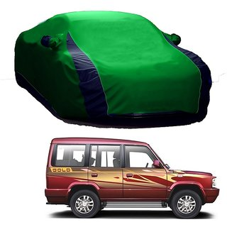 SpeedRo Water Resistant  Car Cover For Hyundai Verna Fluidic 4S (Designer Green  Blue )