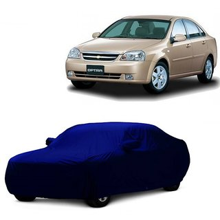 InTrend Water Resistant  Car Cover For Mitsubishi Lancer (Blue With Mirror )