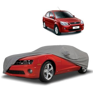 AutoBurn UV Resistant Car Cover For Toyota Innova (Grey With Mirror )