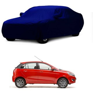 InTrend All Weather  Car Cover For Ford Aspire (Blue With Mirror )