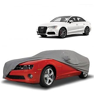 Bull Rider All Weather  Car Cover For Chevrolet Spark (Grey With Mirror )