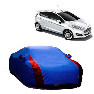 AutoBurn All Weather  Car Cover For Ford Figo (Designer Blue  Red )