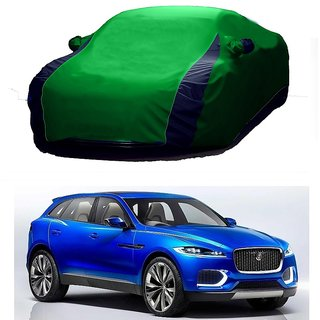 InTrend All Weather  Car Cover For Ford Endeavour (Designer Green  Blue )