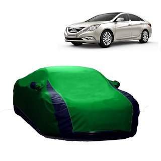 AutoBurn Car Cover For Hyundai Verna Fluidic 4S (Designer Green  Blue )