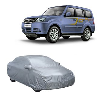 InTrend UV Resistant Car Cover For Hyundai Verna Fluidic (Silver With Mirror )