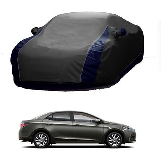 InTrend UV Resistant Car Cover For Toyota Camry (Designer Grey  Blue )