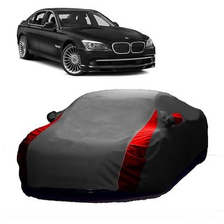 InTrend All Weather  Car Cover For Fiat Abarth (Designer Grey  Red )