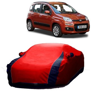 InTrend All Weather  Car Cover For Skoda Rapid (Designer Red  Blue )