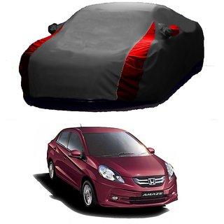 AutoBurn All Weather  Car Cover For Honda Amaze (Designer Grey  Red )