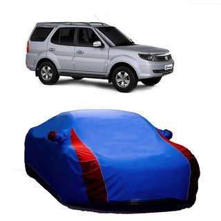 InTrend All Weather  Car Cover For Skoda Superb (Designer Blue  Red )