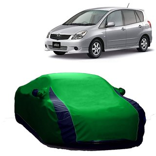 AutoBurn Car Cover For Maruti Suzuki Wagon R (Designer Green  Blue )