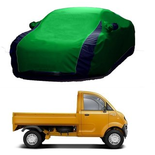 AutoBurn Car Cover For Renault Kwid (Designer Green  Blue )