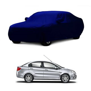 InTrend All Weather  Car Cover For Toyota Etios Liva (Blue With Mirror )