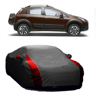 InTrend All Weather  Car Cover For Honda Amaze (Designer Grey  Red )