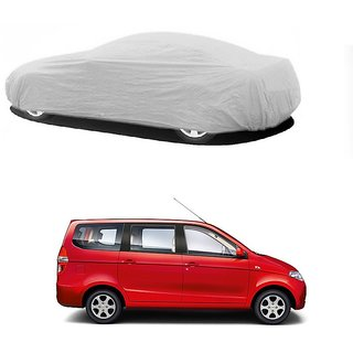 MotRoX Water Resistant  Car Cover For Chevrolet Enjoy (Silver Without Mirror )