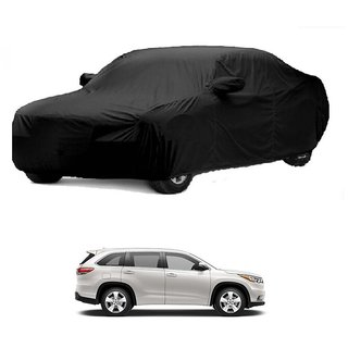 InTrend All Weather  Car Cover For Maruti Suzuki Gypsy MG-410 (Black With Mirror )