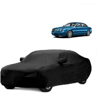 InTrend All Weather  Car Cover For Fiat Siena (Black With Mirror )