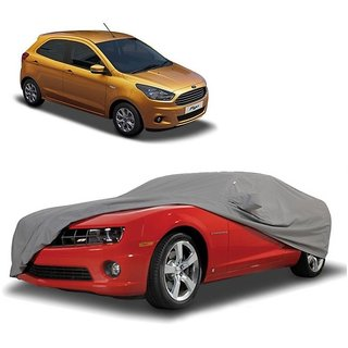 DrivingAID Water Resistant  Car Cover For Ford Fiesta Classic (Grey With Mirror )