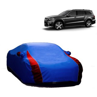 Bull Rider Water Resistant  Car Cover For Nissan Go (Designer Blue  Red )