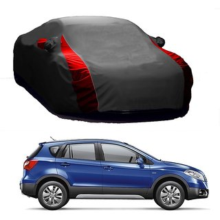 AutoBurn Water Resistant  Car Cover For Toyota Spacio (Designer Grey  Red )