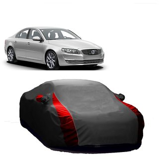 Bull Rider Water Resistant  Car Cover For Maruti Suzuki Swift (Designer Grey  Red )