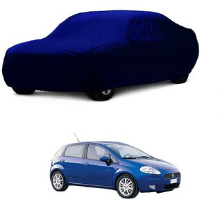 Bull Rider Water Resistant  Car Cover For Tata Hexa (Blue Without Mirror )