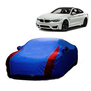 Bull Rider Water Resistant  Car Cover For Maruti Suzuki Omni (Designer Blue  Red )