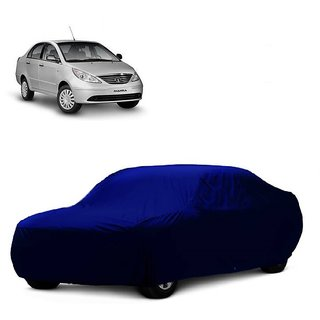 Bull Rider Water Resistant  Car Cover For Volkswagen Passat (Blue Without Mirror )