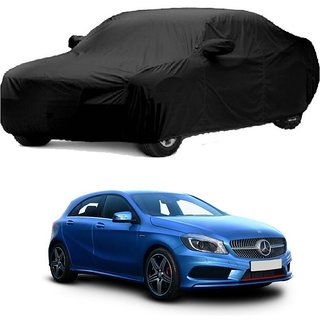 Bull Rider Water Resistant  Car Cover For Mercedes Benz A180 (Black With Mirror )