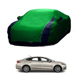 DrivingAID Car Cover For Ford Fusion (Designer Green  Blue )