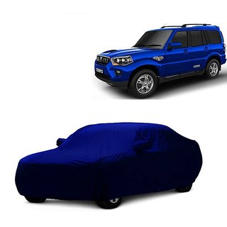 InTrend UV Resistant Car Cover For Hyundai Eon (Blue With Mirror )