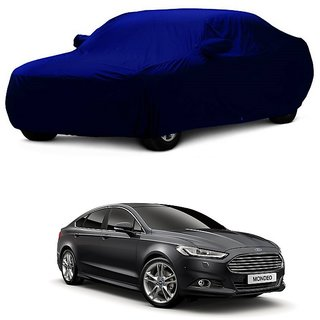 InTrend All Weather  Car Cover For Renault Logan (Blue With Mirror )
