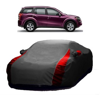 Speediza UV Resistant Car Cover For Mahindra 500 (Designer Grey  Red )