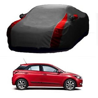 InTrend All Weather  Car Cover For Toyota Cruiser (Designer Grey  Red )