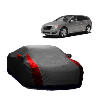 Bull Rider Water Resistant  Car Cover For Hyundai Santro (Designer Grey  Red )