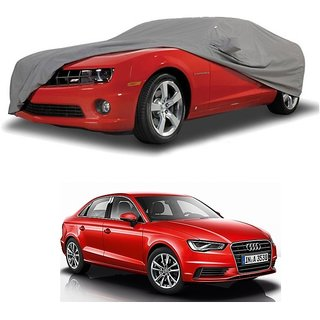 Bull Rider Water Resistant  Car Cover For Audi A5 (Grey With Mirror )