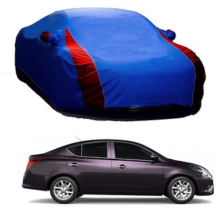 InTrend All Weather  Car Cover For Hyundai Verna Fluidic 4S (Designer Blue  Red )