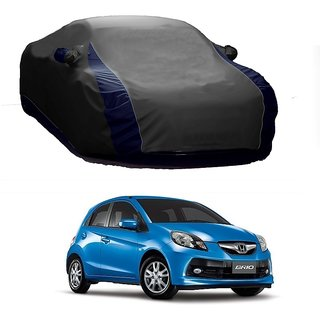 InTrend All Weather  Car Cover For Maruti Suzuki Baleno (Designer Grey  Blue )