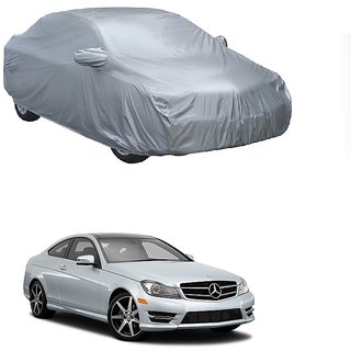 DrivingAID Water Resistant  Car Cover For Mercedes Benz Benz Na (Silver With Mirror )