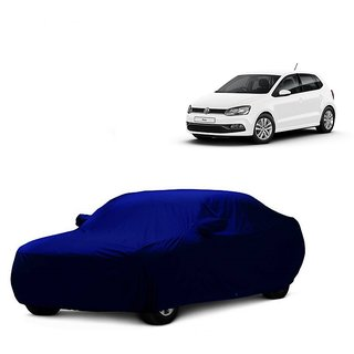 DrivingAID Water Resistant  Car Cover For Mahindra Jeep (Blue With Mirror )