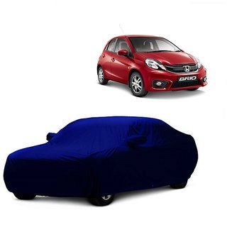 DrivingAID Water Resistant  Car Cover For Chevrolet Aveo (Blue With Mirror )