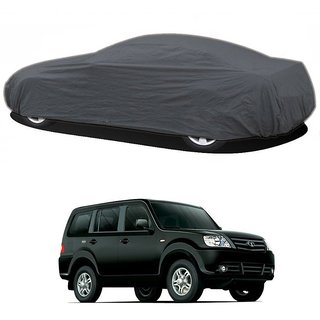 AutoBurn UV Resistant Car Cover For Maruti Suzuki Gypsy King (Grey Without Mirror )