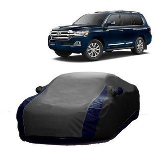 InTrend UV Resistant Car Cover For Mitsubishi Lancer (Designer Grey  Blue )